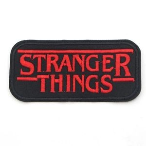 STRANGER THINGS Iron On Patch Netflix Red Black